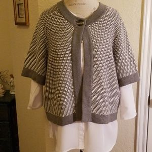Ann Klein Short Sleeve Cardigan
